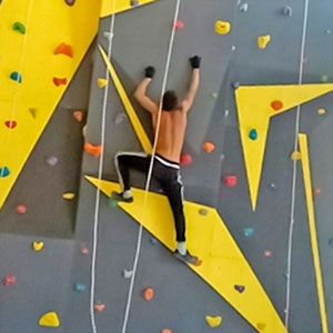 english Sport climbing wall in Moscow