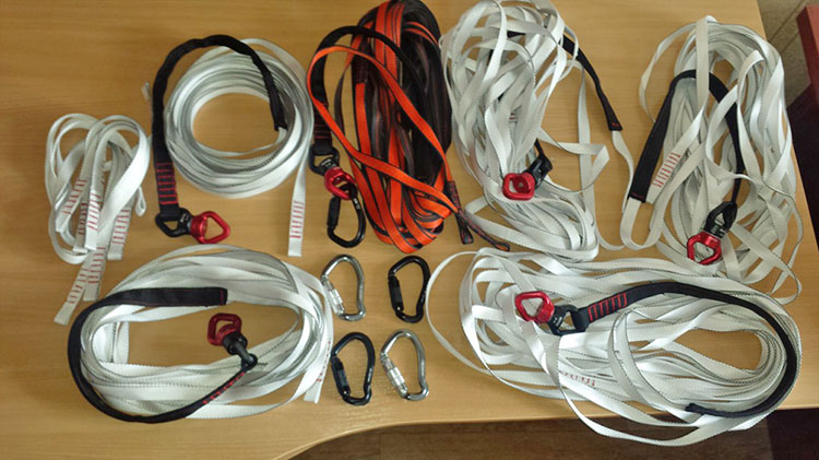 webbing line for autobelay
